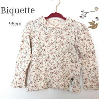 Biquette - ビケット♡花柄長袖トップス 95