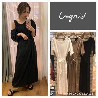 Ungrid - Ungrid**デザインラップカットワンピース