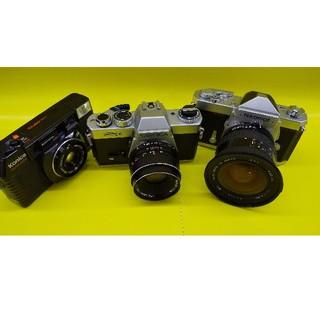 古いカメラ三点