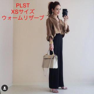 PLST - 未使用☆雑誌掲載 完売 PLST ウォームリザーブワイドパンツ ☆綺麗シルエット