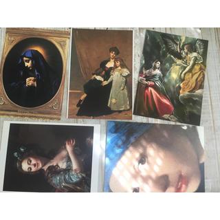 絵画 ポストカード 5枚 フェルメール 真珠の耳飾りの少女 / 中世 ロココ (絵画/タペストリー)