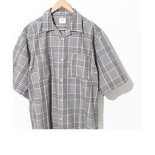 coen - チェックオープンカラーワイドフィットシャツ