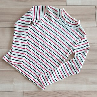 エムピーエス(MPS)の美品♥140★ライトオン☆MPS★ボーダーリブハイネックカットソー(Tシャツ/カットソー)