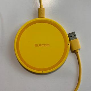 エレコム(ELECOM)の【未使用】エレコム W-QA03YL Qi規格対応ワイヤレス充電器/5W/薄型(バッテリー/充電器)