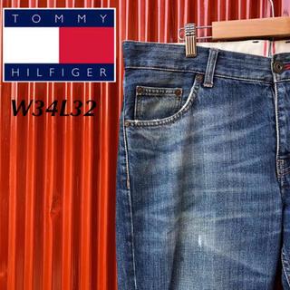 トミーヒルフィガー(TOMMY HILFIGER)の☆人気☆トミーヒルフィガー☆ダメージジーンズ☆クラッシュデニム☆トルコ製(デニム/ジーンズ)