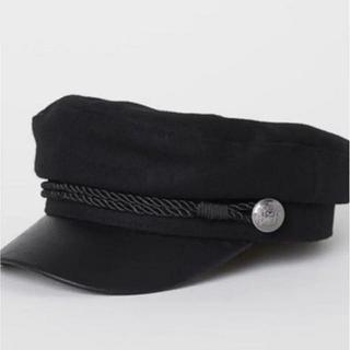 エイチアンドエム(H&M)のH&M キャスケット キャプテンキャップ 黒(キャスケット)