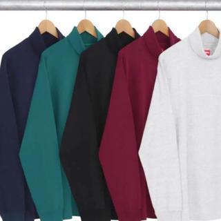 Supreme - MサイズSupreme タートルネックシャツアッシュグレー