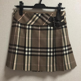 BURBERRY - バーバリー☆チェックプリーツスカート
