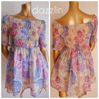 dazzlin - 《新品タグ付き》dazzlin  花柄 ミニワンピース