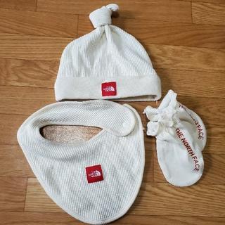 THE NORTH FACE - ノースフェイス 出産祝い 帽子,ミトン,スタイ3点セット