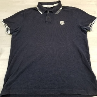 MONCLER - MONCLER モンクレール ポロシャツ L ネイビー