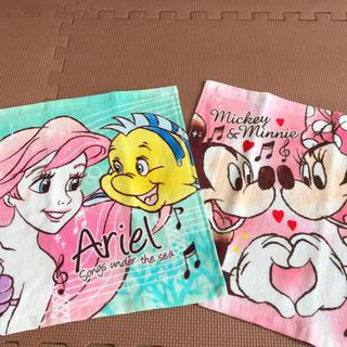 Disney - 《2枚セット》アリエル ★ ミッキー&ミニー ★ ハンドタオル