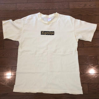 Supreme - supreme yellow monogram boxlogo T-shirt