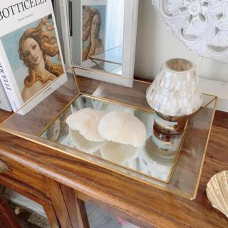 ザラホーム(ZARA HOME)のガラスミラートレイ デコレーショントレイL(小物入れ)