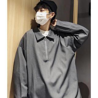 【neos】ビッグシルエット ハーフジップ アノラック プルオーバーシャツ(Tシャツ/カットソー(七分/長袖))