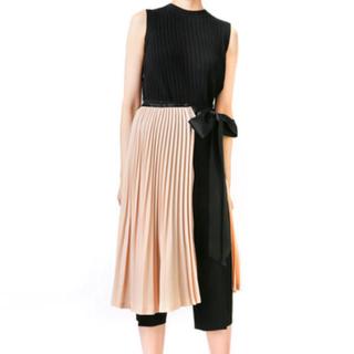 ルシェルブルー(LE CIEL BLEU)の新品タグ付き プリーツラップスカート(ひざ丈スカート)