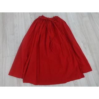 mina perhonen - IDEE POOL いろいろの服 巻きギャザーエプロンスカート レッド