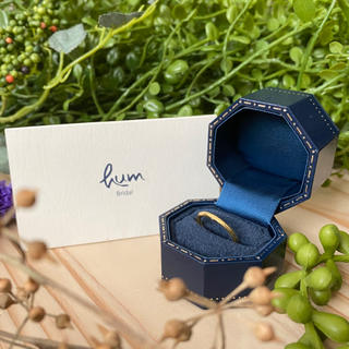hum mugen ring #6.5 green gold diamond(リング(指輪))