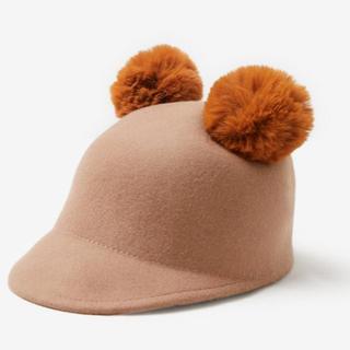 ザラ(ZARA)の新品タグ付 ZARA ポンポン付きフェルトキャップ(帽子)