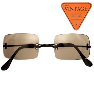 SALE!美デッド60sアメリカ逆輸入USAビンテージ スクエアサングラスメガネ(サングラス/メガネ)