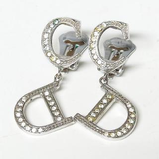 Christian Dior - 【クリスチャンディオール】CDロゴモチーフ ラインストーン イヤリング