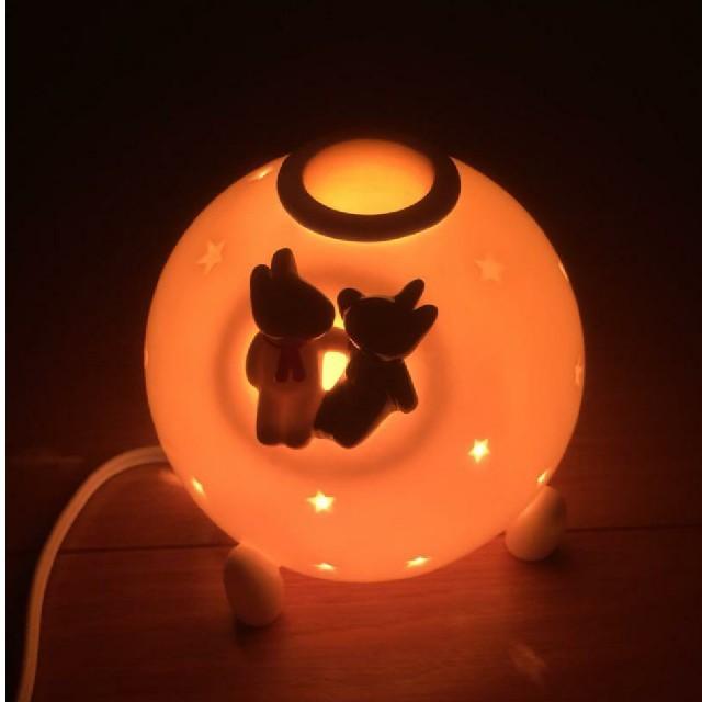 ぴそ様専用   リサ&ガスパールの陶磁器製アロマランプ コスメ/美容のリラクゼーション(アロマグッズ)の商品写真