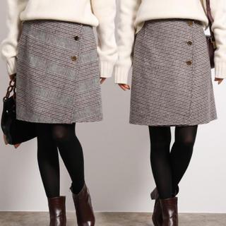 ロペ(ROPE)のロペ ウールリバーシブルチェックミニスカート(ひざ丈スカート)