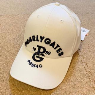 PEARLY GATES - 新品■6,380円【パーリーゲイツ】キャップ 帽子  ホワイト ゴルフウェア