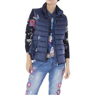DESIGUAL - 新品 デシグアル ブルー 袖取り外し可能な軽量ジャケット サイズ40、42大特価