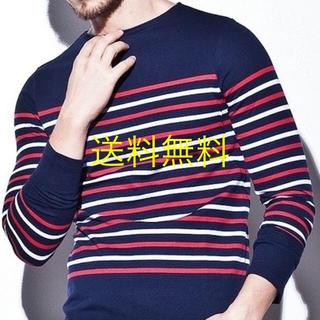 ダブルジェーケー(wjk)の送料無料 wjk ボーダー ボート ネック 長袖 Tシャツ S M ネイビー(Tシャツ/カットソー(七分/長袖))