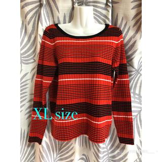 ジーユー(GU)のGU マルチボーダーセーター☆ XLサイズ(ニット/セーター)