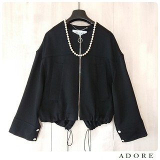 ADORE - ◆幻◆ 春物新品 定価4.3万円 ADORE トリアセカルゼノーカラーブルゾン