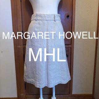 マーガレットハウエル(MARGARET HOWELL)のMARGARET HOWELL マーガレットハウエル MHL スカート 麻(ひざ丈スカート)