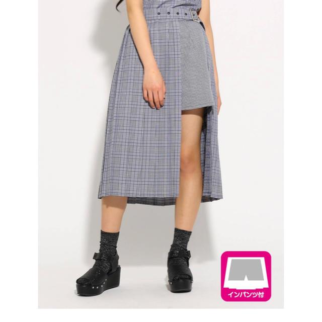 PINK-latte(ピンクラテ)のピンクラテ プリーツ ラップ ミディ スカート レディースのスカート(ロングスカート)の商品写真