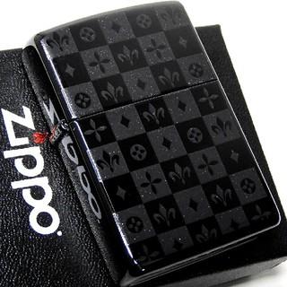 ジッポー(ZIPPO)の(送料込み)ZIPPO◇両面/モノグラムチェック◇ブラック◇新品◇ジッポ(タバコグッズ)
