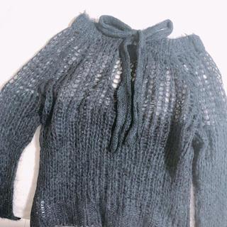 ファーファー(fur fur)の即発送 Furfurモヘヤバックリボンニット(ニット/セーター)
