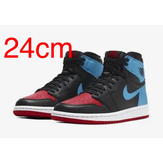 ナイキ(NIKE)のWMNS AIR JORDAN 1 UNC TO CHICAGO 24cm(スニーカー)