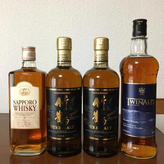ニッカウイスキー(ニッカウヰスキー)の竹鶴2本、国産ウイスキー2本  合計4本セット(ウイスキー)