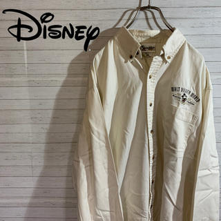 Disney - 古着 WALT DISNEY WORLD ディズニー BDシャツ 刺繍