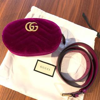Gucci - 【GUCCI】新品未使用 GGマーモント ベルベットベルトバッグ