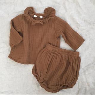 monbebe 韓国子供服 セットアップ camel