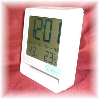 イデアインターナショナル(I.D.E.A international)の★電波時計、温度、湿度★IDEA LABEL ★イデアインターナショナル置時計★(置時計)