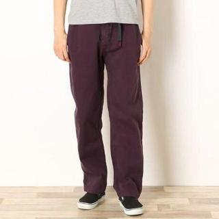 グラミチ(GRAMICCI)のグラミチ パンツ 紫 綿100% サイズS(ワークパンツ/カーゴパンツ)