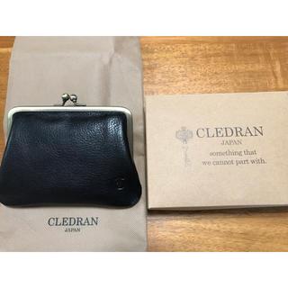 クレドラン(CLEDRAN)のクレドラン ラピ CLEDRAN  財布 がま口 黒 牛革(財布)