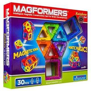 マグフォーマー 30ピース レインボーセット MAGFORMERS マグネットブ