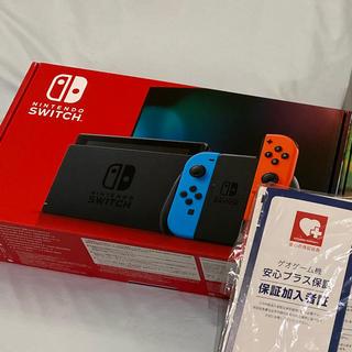 ニンテンドースイッチ(Nintendo Switch)のNintendo Switch 本体 ネオン 新型 保証付き(家庭用ゲーム機本体)