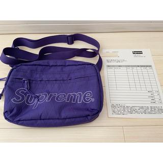シュプリーム(Supreme)のsupreme shoulder bag パープル  purple (ショルダーバッグ)