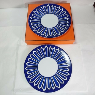 Hermes - エルメス(HERMES) ブルーダイユール プレート皿 (26.5cm)×2枚!