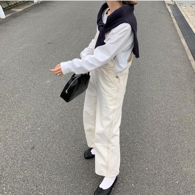 TODAYFUL(トゥデイフル)の新品 fashiru ホワイトサロペット hholic レディースのパンツ(サロペット/オーバーオール)の商品写真