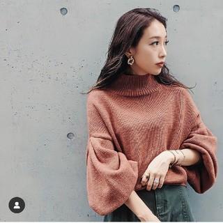 rienda - rienda♡M/N Tuck Shoulder Knit TOP
